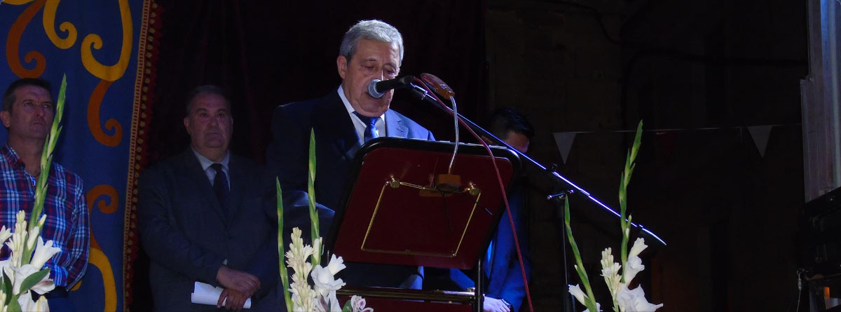 6f32d392b Jesús Quijano durante la lectura de su pregón la noche del día 13 de  septiembre.